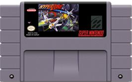 Cartridge artwork for HyperZone on the Nintendo SNES.