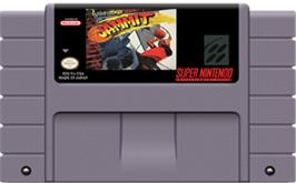 Cartridge artwork for Jammit on the Nintendo SNES.