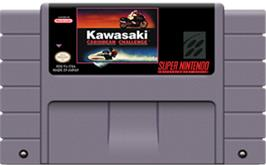 Cartridge artwork for Kawasaki Caribbean Challenge on the Nintendo SNES.