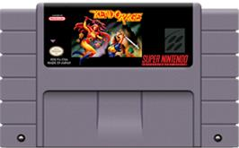 Cartridge artwork for Kendo Rage on the Nintendo SNES.