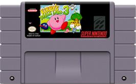 Cartridge artwork for Kirby's DreamLand 3 on the Nintendo SNES.