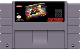 Cartridge artwork for Last Action Hero on the Nintendo SNES.