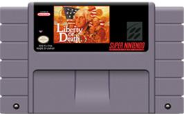 Cartridge artwork for Liberty or Death on the Nintendo SNES.