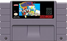 Cartridge artwork for Mario Paint on the Nintendo SNES.