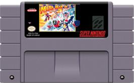 Cartridge artwork for Mega Man X3 on the Nintendo SNES.