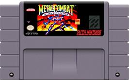 Cartridge artwork for Metal Combat: Falcon's Revenge on the Nintendo SNES.