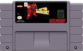 Cartridge artwork for Metal Warriors on the Nintendo SNES.