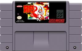 Cartridge artwork for Mr. Nutz on the Nintendo SNES.