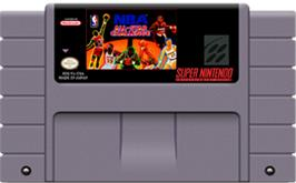 Cartridge artwork for NBA All-Star Challenge on the Nintendo SNES.