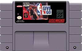 Cartridge artwork for NBA Give 'n Go on the Nintendo SNES.