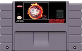 Cartridge artwork for NBA Jam Tournament Edition on the Nintendo SNES.