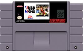 Cartridge artwork for NBA Live '95 on the Nintendo SNES.