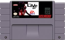 Cartridge artwork for NBA Live '98 on the Nintendo SNES.