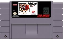 Cartridge artwork for NHL '96 on the Nintendo SNES.