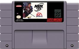 Cartridge artwork for NHL '98 on the Nintendo SNES.