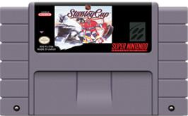 Cartridge artwork for NHL Stanley Cup on the Nintendo SNES.