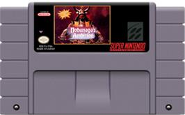 Cartridge artwork for Nobunaga's Ambition on the Nintendo SNES.