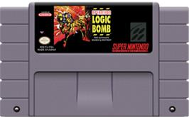 Cartridge artwork for Operation Logic Bomb on the Nintendo SNES.