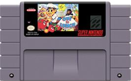 Cartridge artwork for Out to Lunch on the Nintendo SNES.