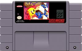 Cartridge artwork for Pac-Attack on the Nintendo SNES.