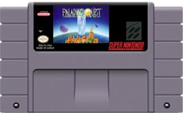 Cartridge artwork for Paladin's Quest on the Nintendo SNES.