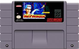 Cartridge artwork for Rex Ronan: Experimental Surgeon on the Nintendo SNES.