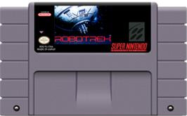 Cartridge artwork for Robotrek on the Nintendo SNES.