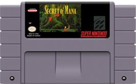 Cartridge artwork for Secret of Mana on the Nintendo SNES.