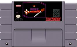 Cartridge artwork for Shien's Revenge on the Nintendo SNES.