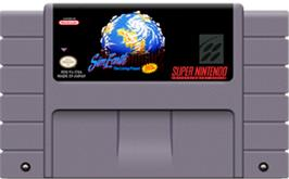 Cartridge artwork for Sim Earth: The Living Planet on the Nintendo SNES.