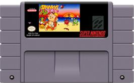Cartridge artwork for Spanky's Quest on the Nintendo SNES.