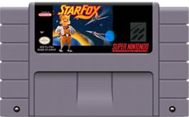 Cartridge artwork for Star Fox: Super Weekend Competition on the Nintendo SNES.