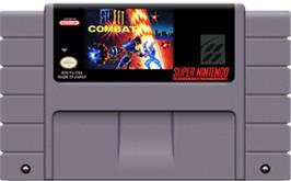 Cartridge artwork for Street Combat on the Nintendo SNES.