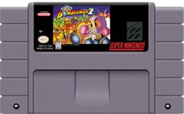 Cartridge artwork for Super Bomberman 2 on the Nintendo SNES.
