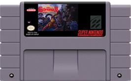 Cartridge artwork for Super Castlevania IV on the Nintendo SNES.