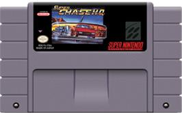 Cartridge artwork for Super Chase H.Q. on the Nintendo SNES.