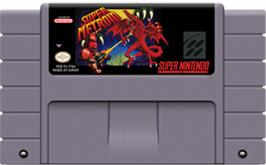 Cartridge artwork for Super Metroid on the Nintendo SNES.