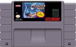 Cartridge artwork for Super Nova on the Nintendo SNES.