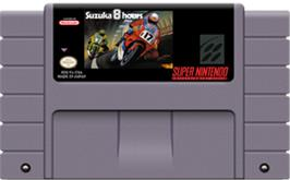 Cartridge artwork for Suzuka 8 Hours on the Nintendo SNES.