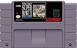 Cartridge artwork for Tecmo Super Bowl II: Special Edition on the Nintendo SNES.