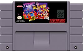Cartridge artwork for Tetris & Dr. Mario on the Nintendo SNES.