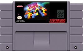 Cartridge artwork for Tetris 2 on the Nintendo SNES.