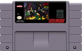 Cartridge artwork for The Adventures of Batman and Robin on the Nintendo SNES.
