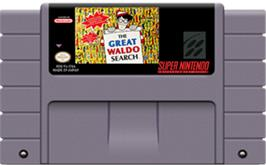 Cartridge artwork for The Great Waldo Search on the Nintendo SNES.