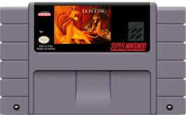 Cartridge artwork for The Lion King on the Nintendo SNES.