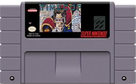 Cartridge artwork for Timecop on the Nintendo SNES.