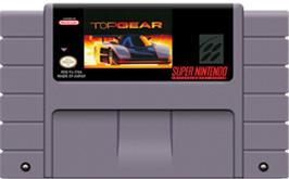 Cartridge artwork for Top Gear on the Nintendo SNES.