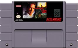 Cartridge artwork for True Lies on the Nintendo SNES.