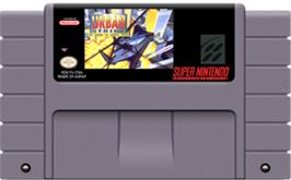 Cartridge artwork for Urban Strike on the Nintendo SNES.
