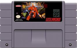 Cartridge artwork for Vortex on the Nintendo SNES.